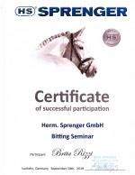 Sprenger Certificate